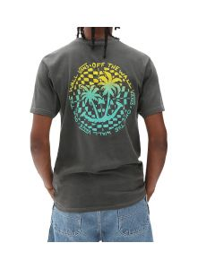 Vans T-Shirt da Uomo Vintage Checker Palms Grigia