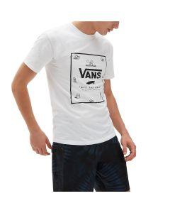 Vans T-Shirt da Uomo Classic Print Box Bianco
